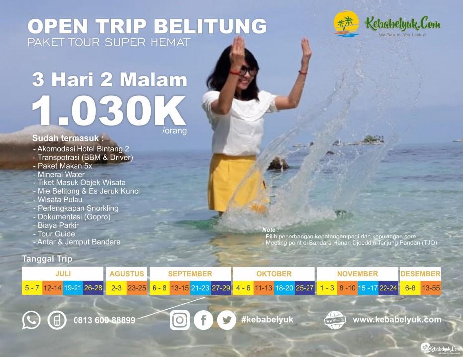 Ikut Open Trip Wisata Belitung Yuk !!!!