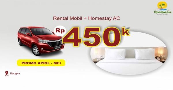 Rental Mobil + Homestay AC Bangka